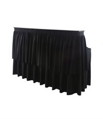 6ft Black Skirted Bar