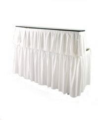 6ft White Skirted Bar