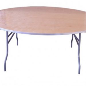 72 Round Wood Table